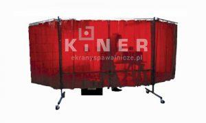 Kiner ekrany spawalnicze rozkładany wypełniony zasłonami spawalniczymi