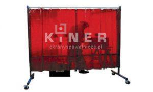 Kiner ekran spawalniczymobilny, jednoskrzydłowy, zasłona czerwona