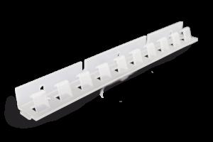 Kurtyna spawalnicza może być montowana na zawiesiu grzebieniowym PCV